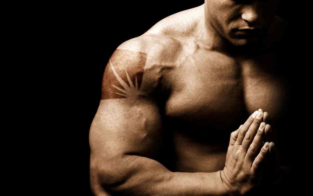 Bodybuilder Tanning